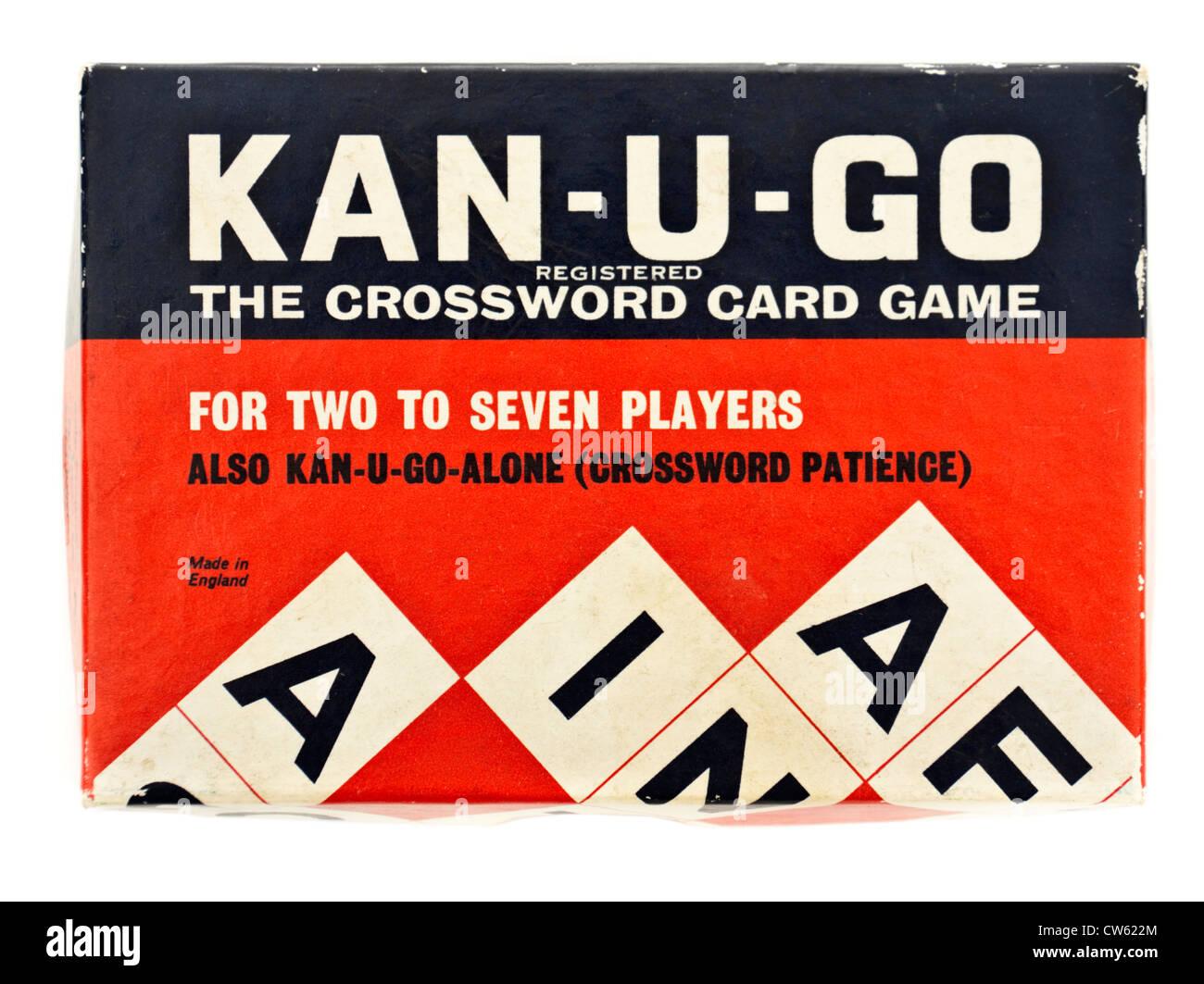 Vintage Kan-U-GO card game crucigramas Foto de stock