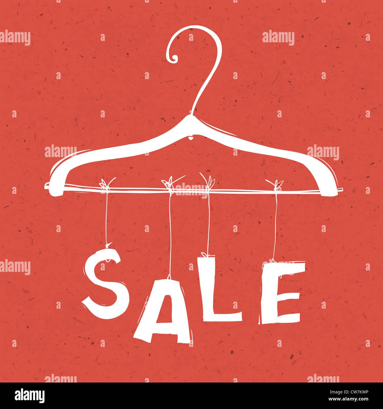 Ilustración del concepto de venta. Imagen De Stock