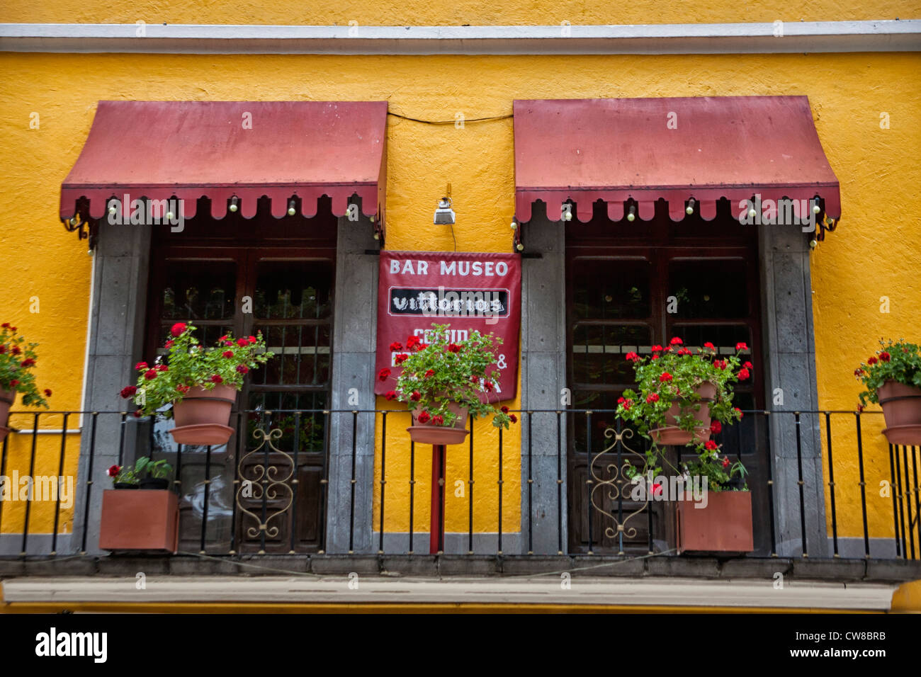 Balcón en Puebla, México Imagen De Stock