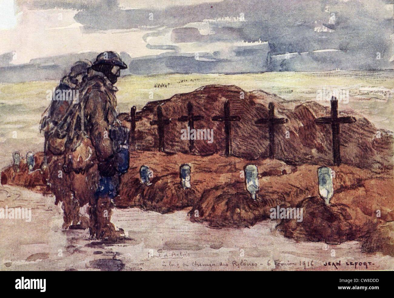 """Lefort, Camaradas"""" tumbas en el Artois delante. Imagen De Stock"""