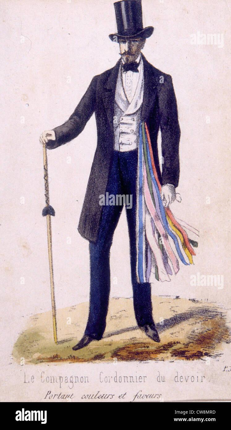 Guilding del siglo xix, ilustraciones Imagen De Stock
