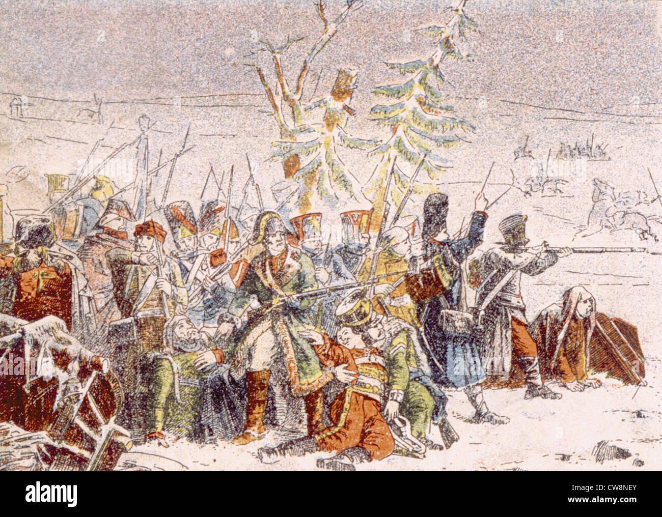 Guerras Napoleónicas, ilustraciones Foto de stock