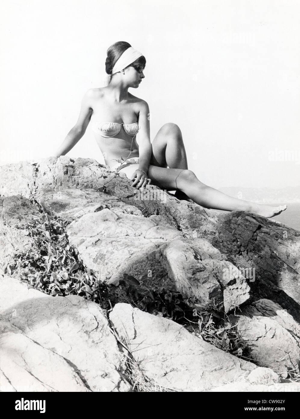 Un turista en los '60s Imagen De Stock