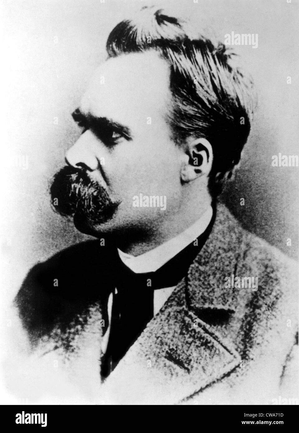Friedrich Nietzsche, filósofo alemán del siglo XIX, circa 1887. Imagen De Stock
