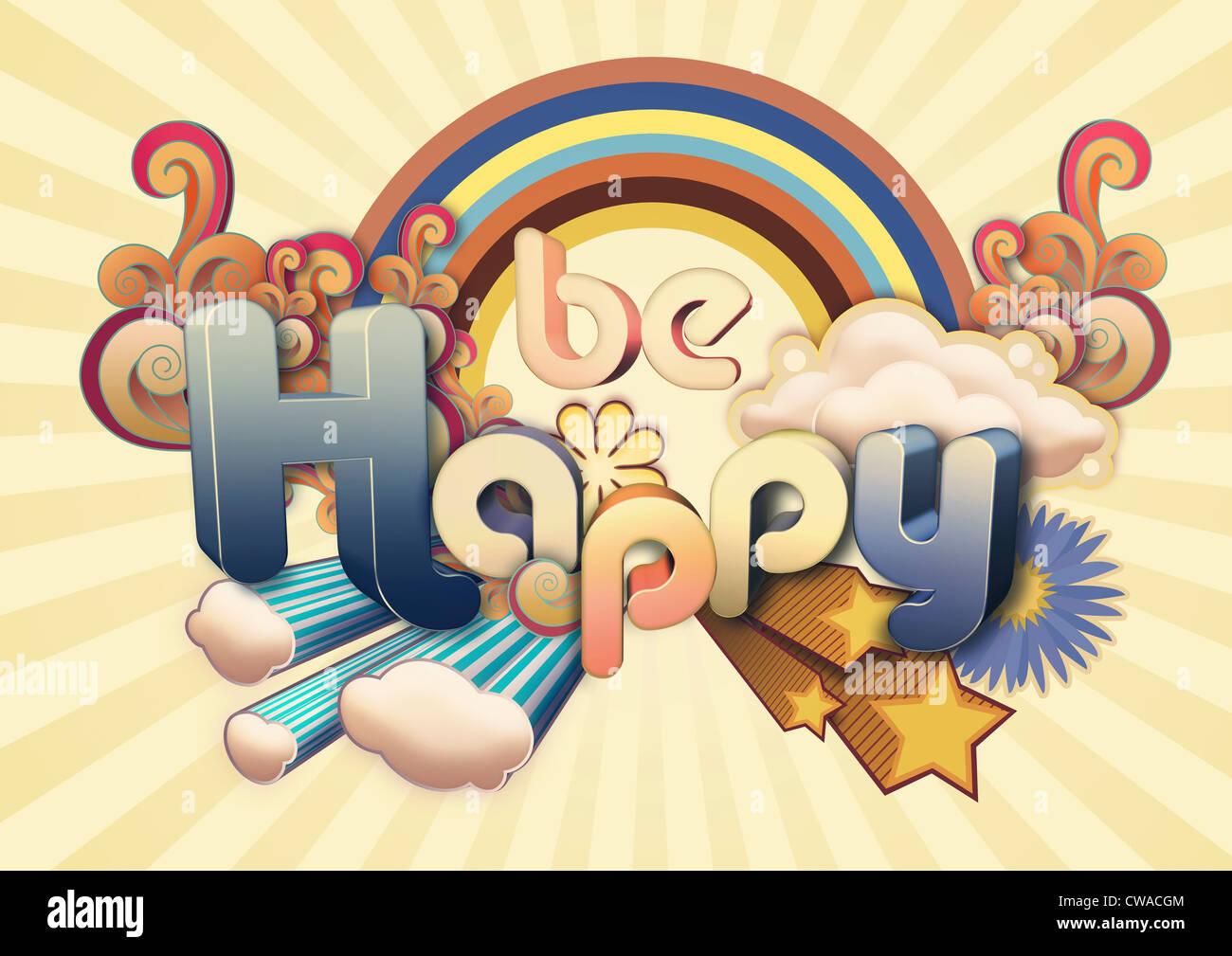 Ser feliz ilustración Imagen De Stock