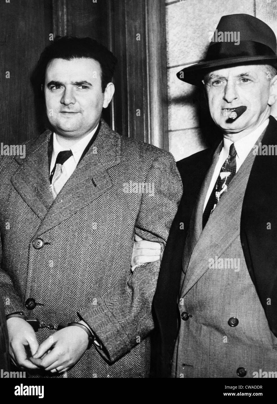 David Paul Greengrass (izquierda), espía de la Unión Soviética, después de que él testificó Imagen De Stock