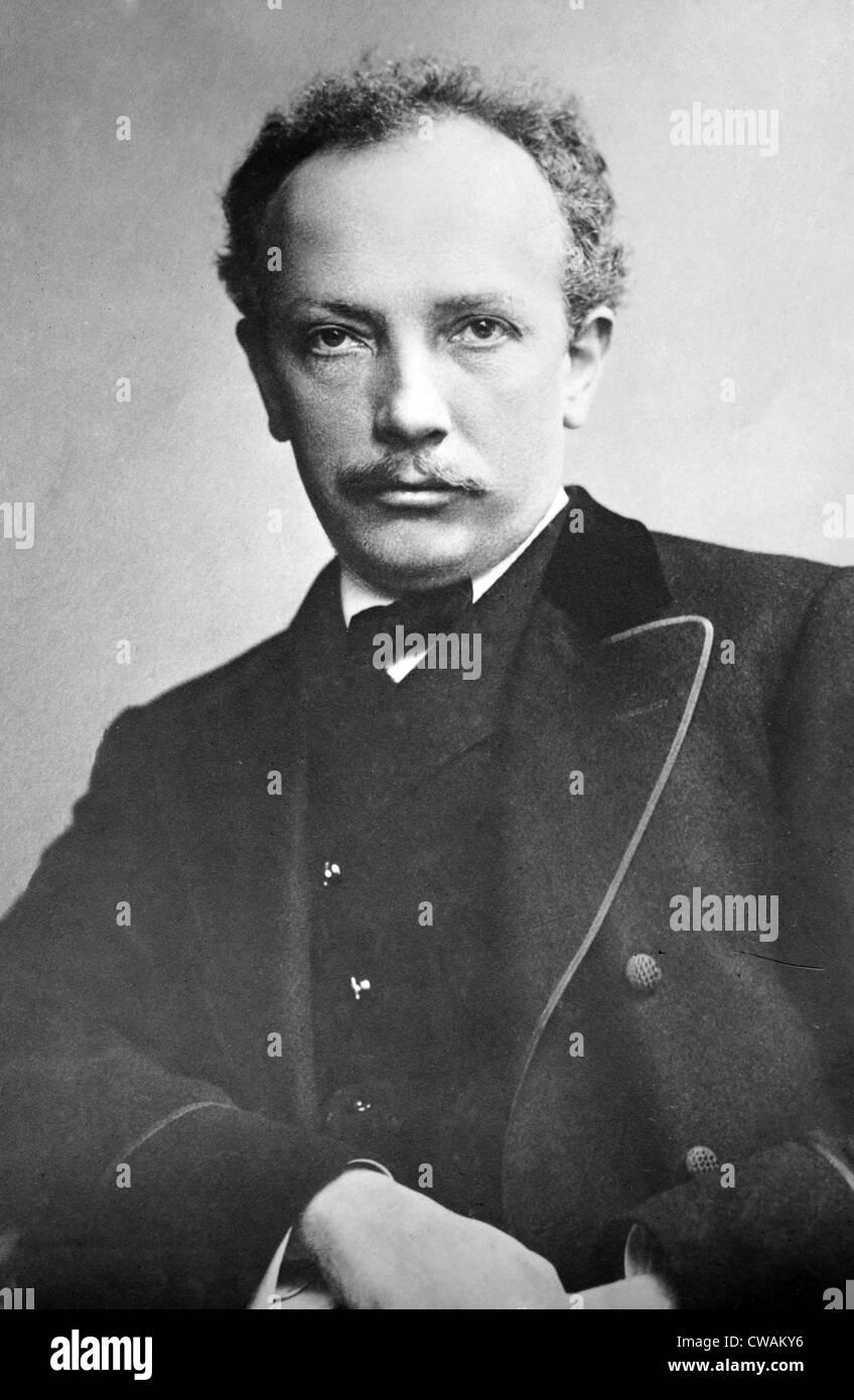 Richard Strauss (1864-1949), músico alemán de la era moderna, compuesto trabajo expresivo construido en Imagen De Stock