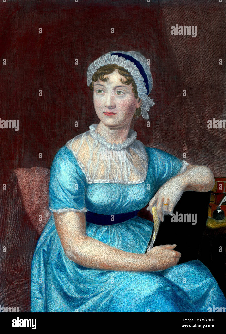 Jane Austen (1775-1817), novelista inglés, autor de la novela clásica perdurable sobre clase media la Imagen De Stock