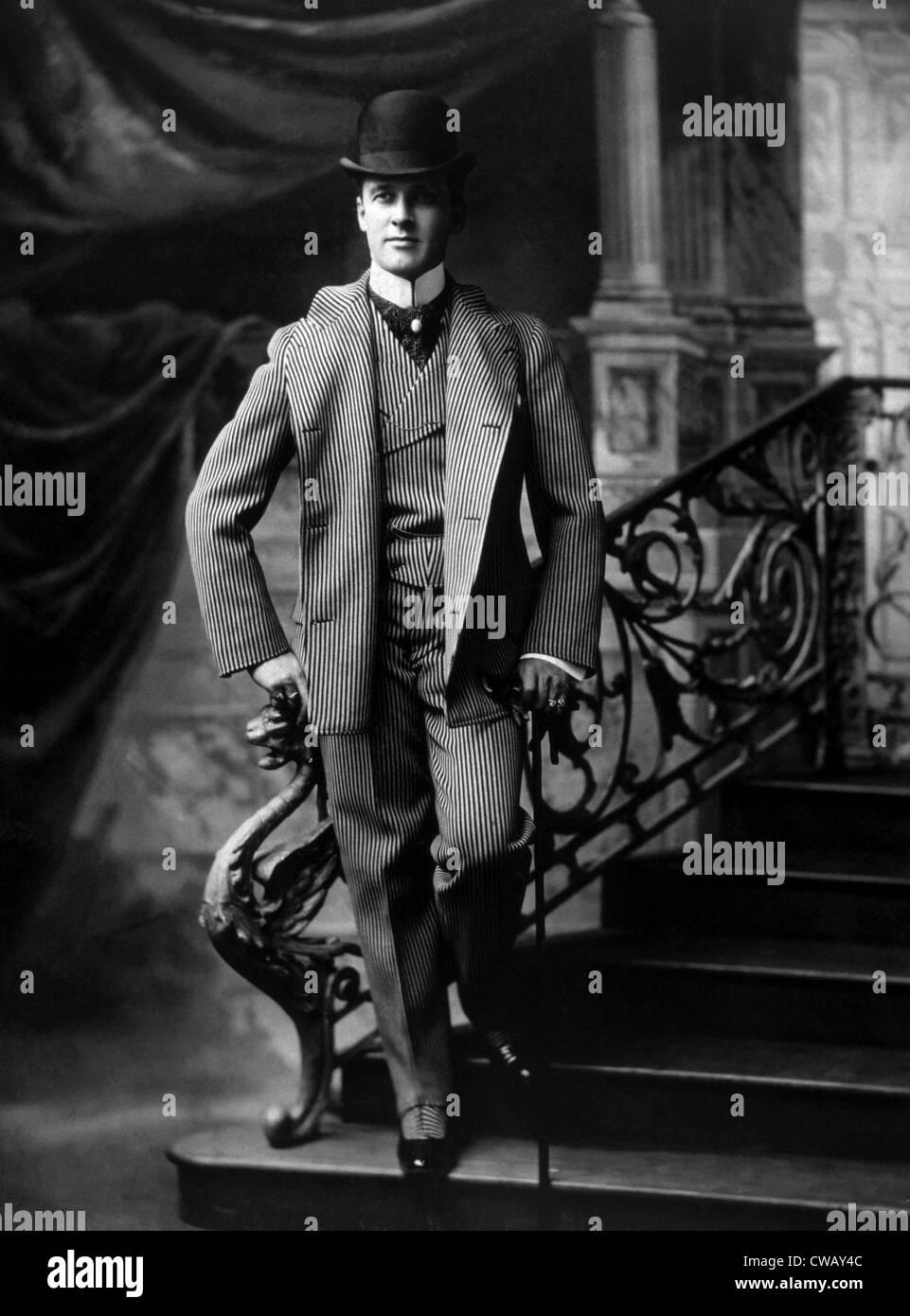 Un hombre vestido de moda, circa 1895. Foto: Cortesía Everett Collection Imagen De Stock
