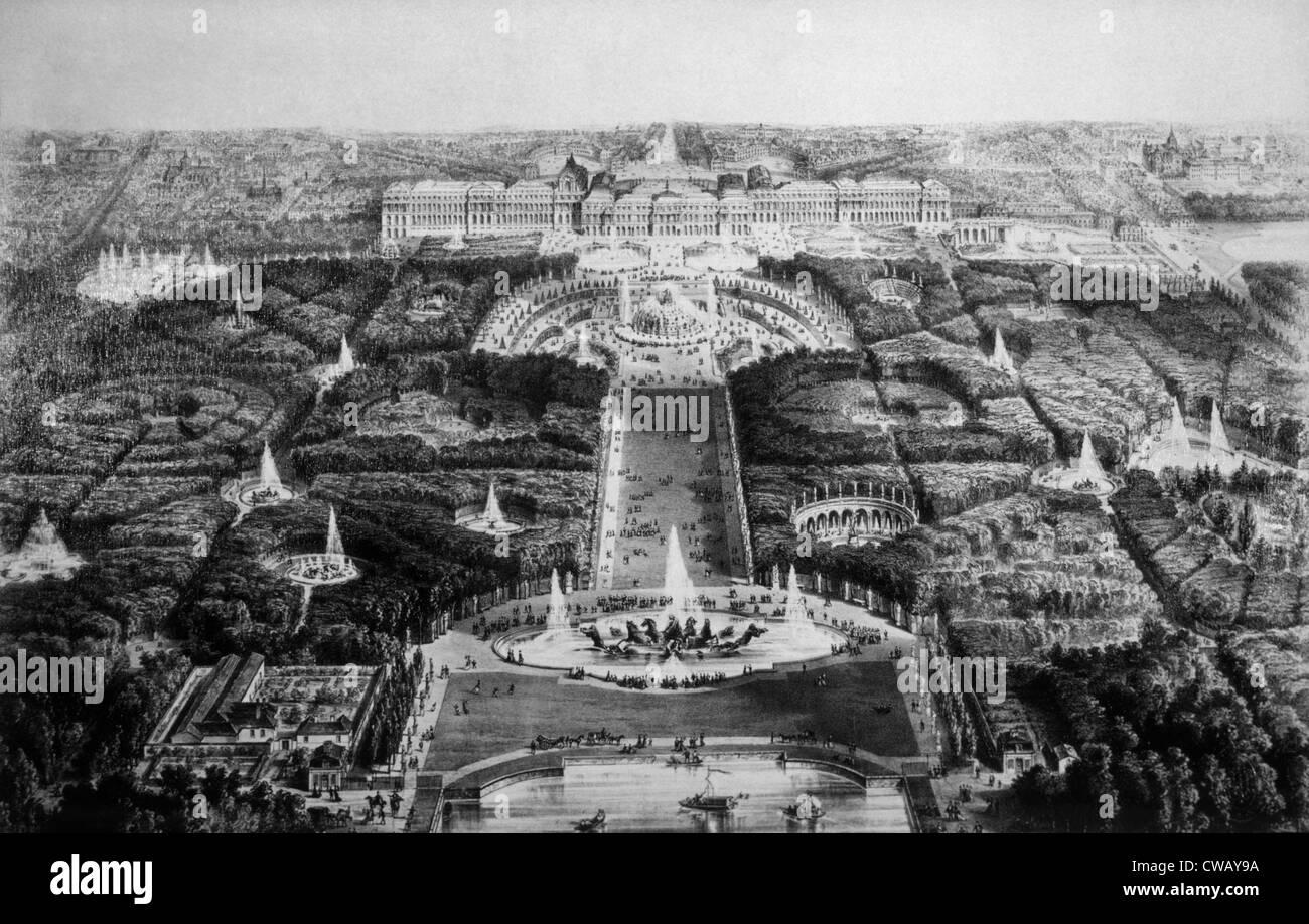 El Palacio de Versalles, del siglo XIX. Imagen De Stock