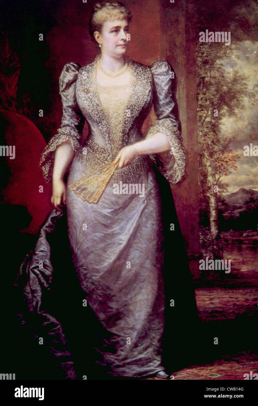 Caroline Harrison (1832-1892), la Primera Dama (1889-1892) Imagen De Stock