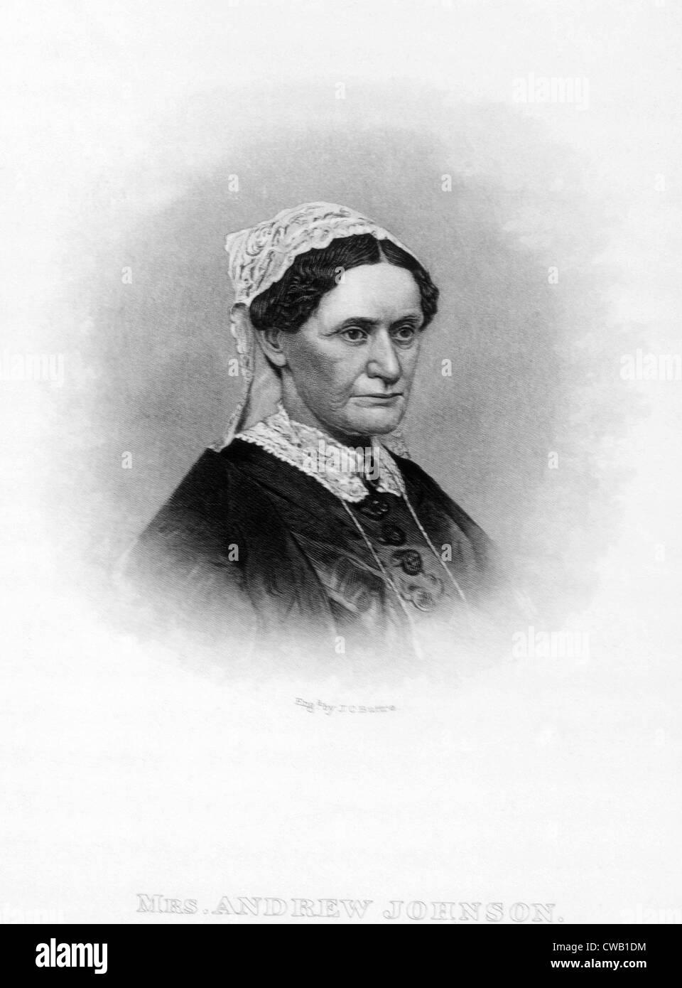 Eliza Johnson (1810-1876), la Primera Dama (1865-1869) Imagen De Stock