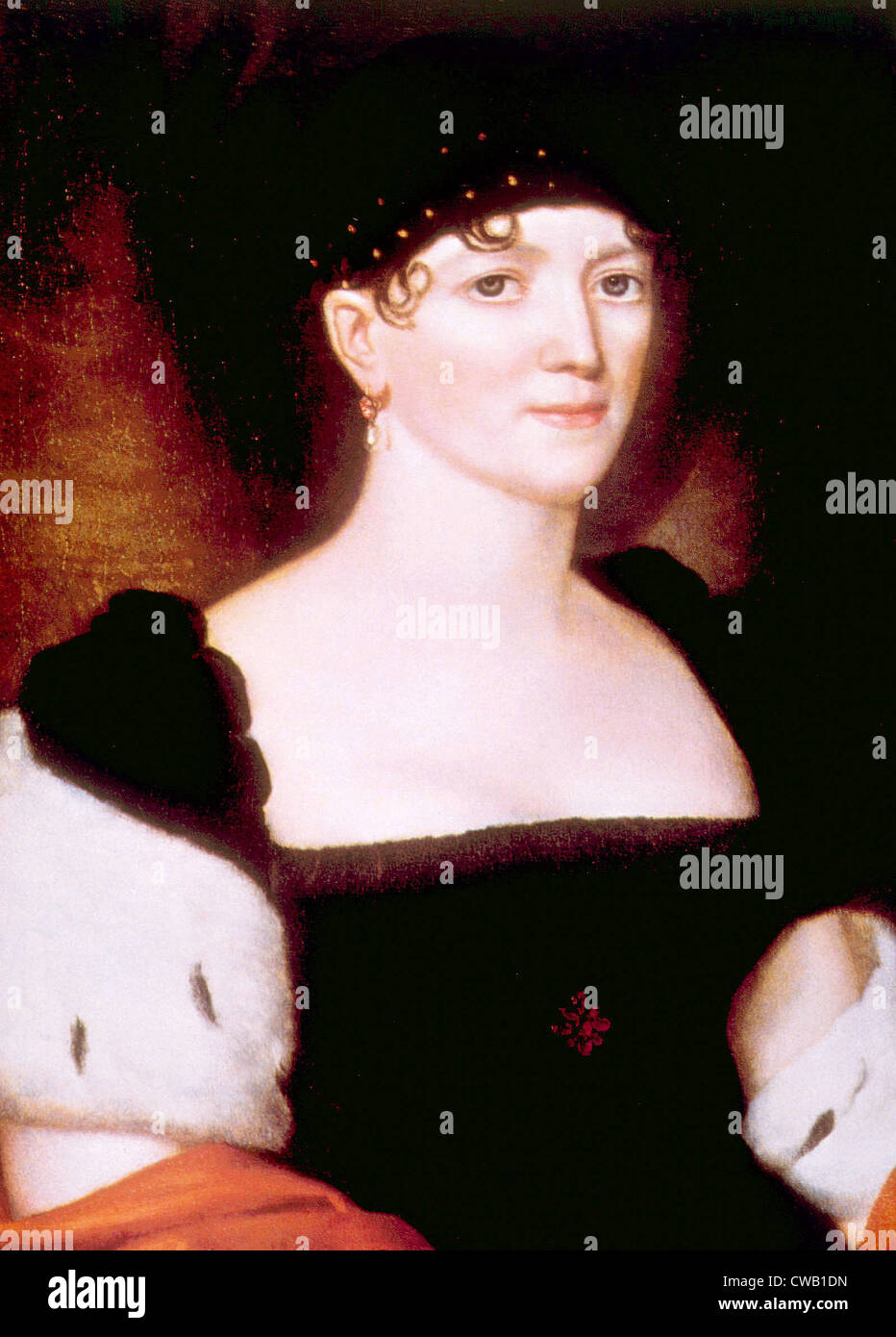 Elizabeth Monroe (1768-1830), la Primera Dama (1817-1825) Imagen De Stock