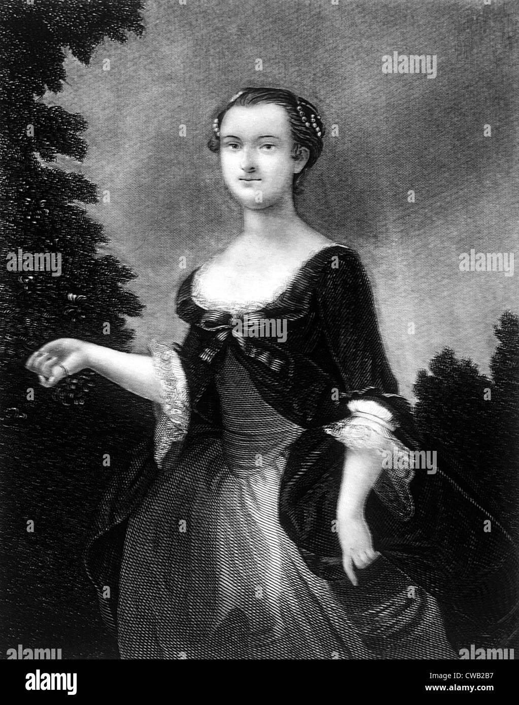 Martha Washington (1731-1802), la Primera Dama (1789-1797) Imagen De Stock