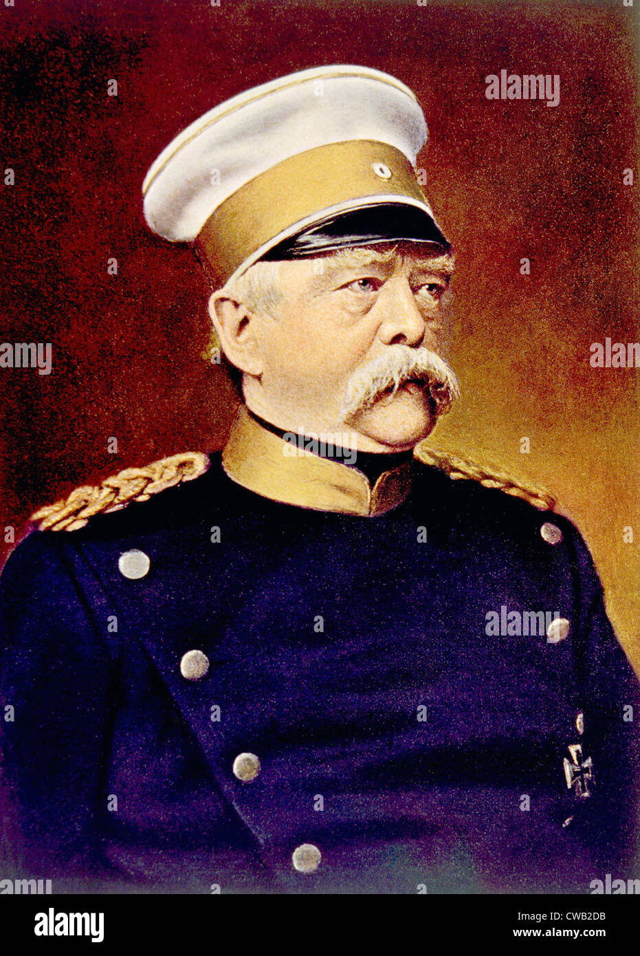 Otto von Bismarck (1815-1898), Canciller de Alemania, conocido como el Canciller de hierro Foto de stock