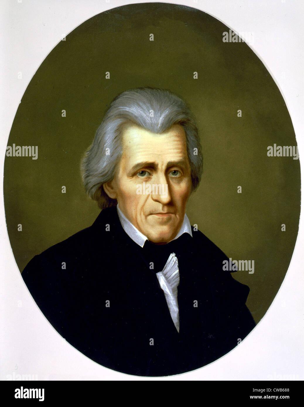 Andrew Jackson, chromolithograph ca. a finales del siglo XIX. Imagen De Stock