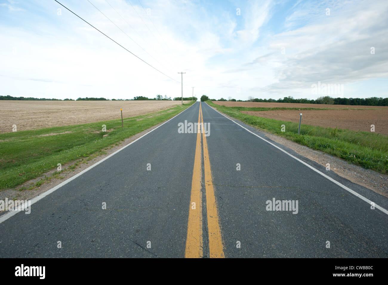 Camino abierto Foto de stock