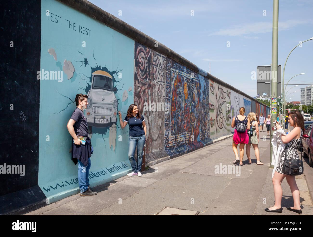 East Side Gallery, Berlín, Alemania Imagen De Stock