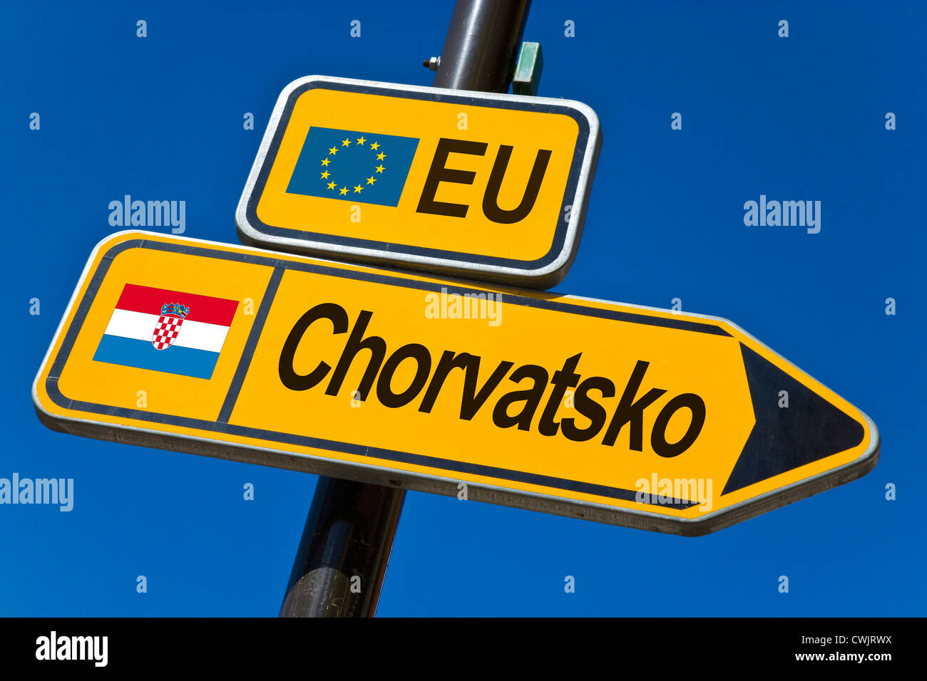 EU - Estado candidato a la adhesión 2010 - Croacia Imagen De Stock