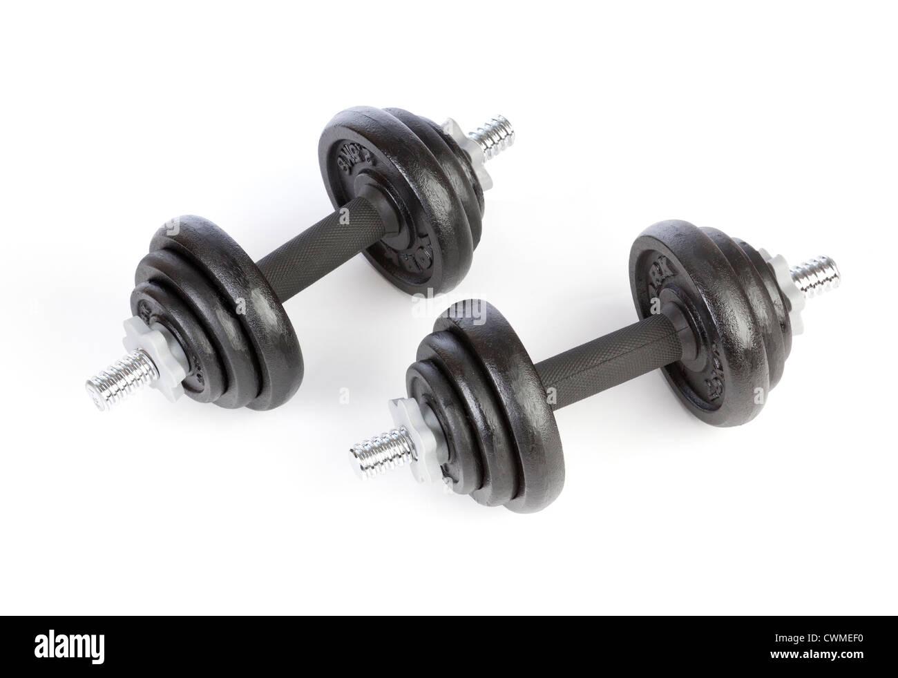 Pesa pesas de hierro fundido Foto de stock