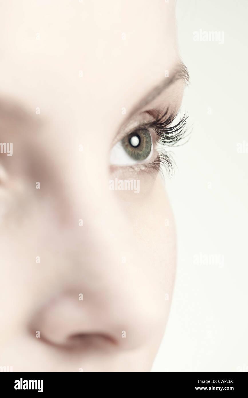 Los ojos de la mujer, más cerca Foto de stock