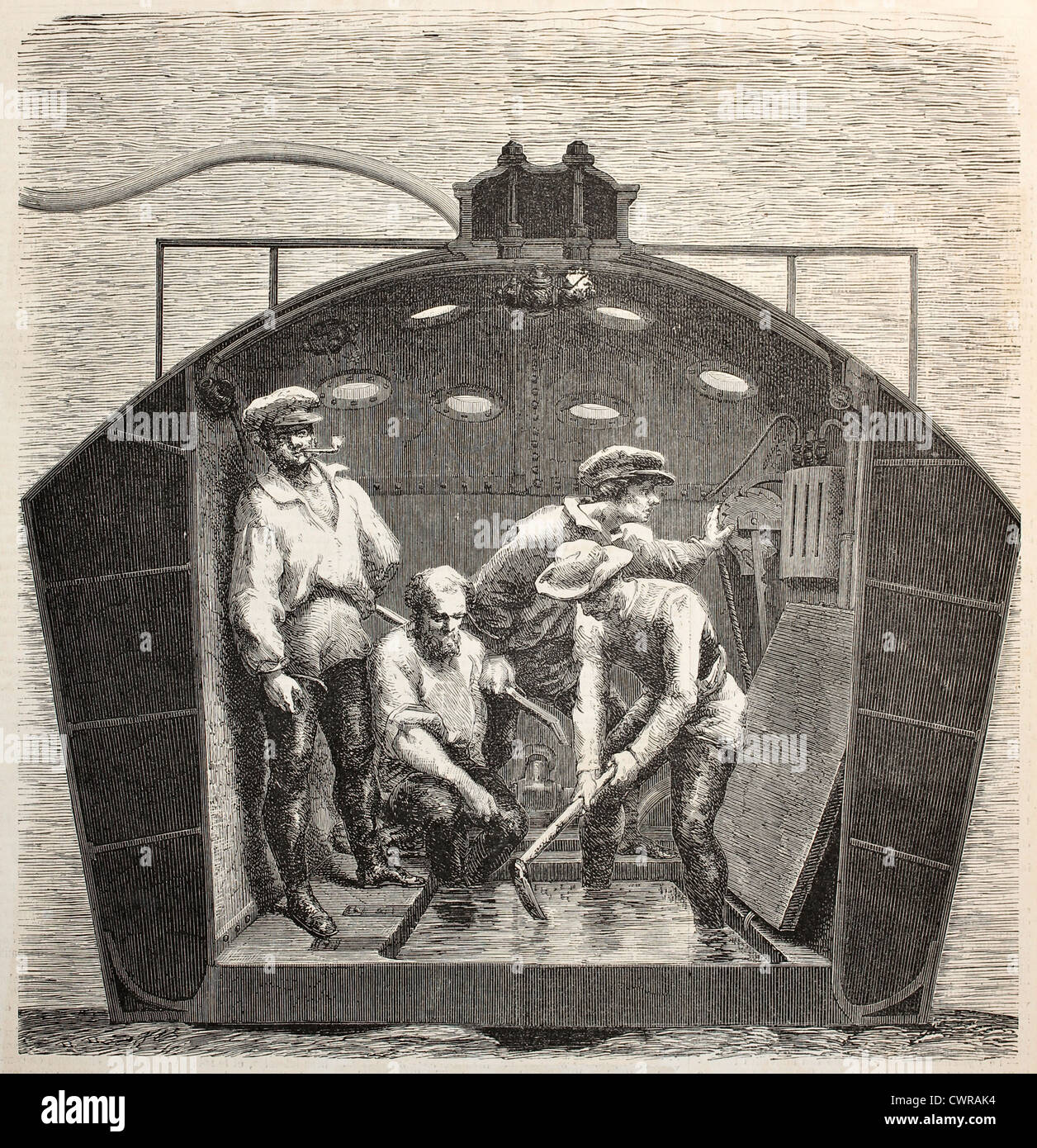 Interior del Submarino Nautilus Imagen De Stock