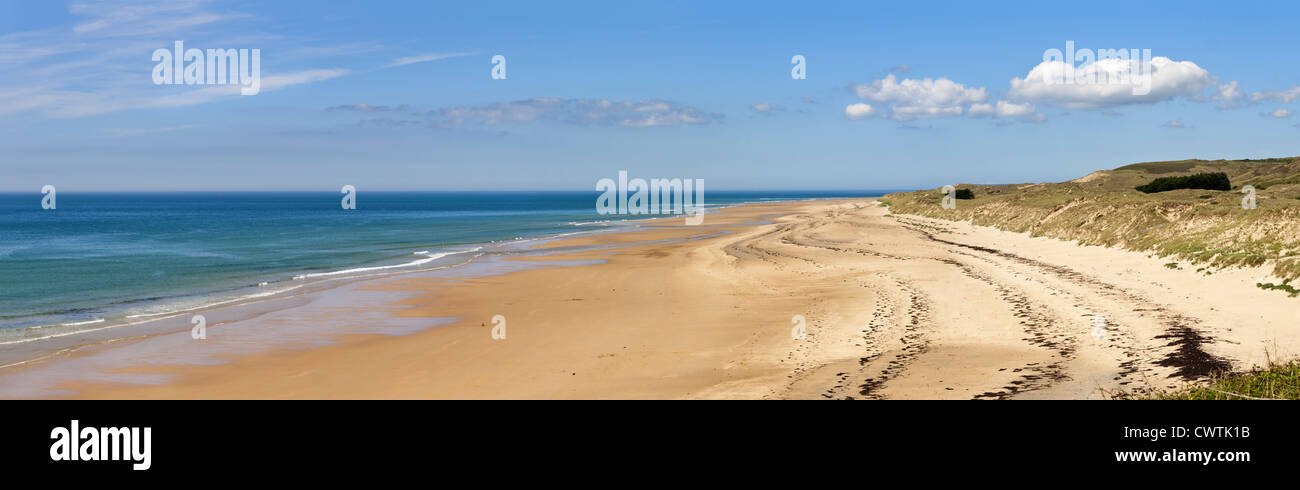 La playa en Carteret, Normandía, Francia Foto de stock