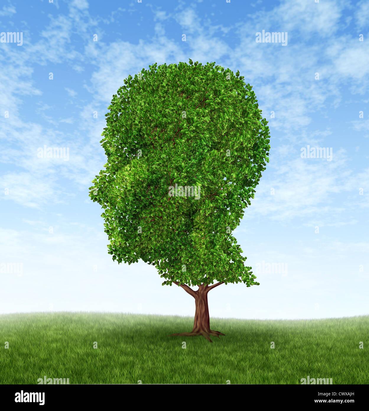 El crecimiento personal y el desarrollo de la personalidad como un símbolo de la psicología médica Imagen De Stock