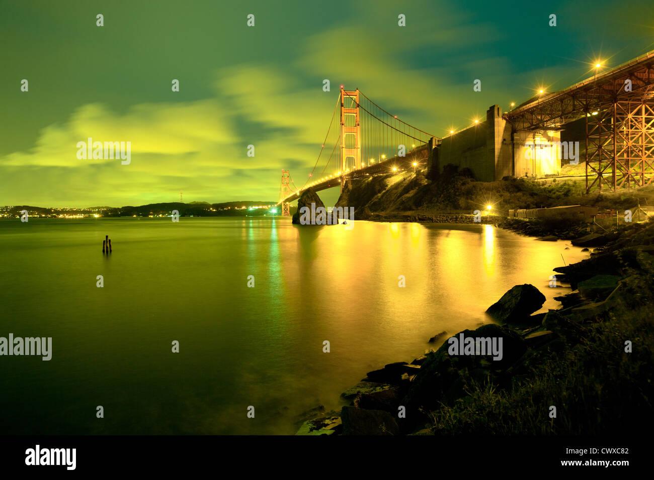 El Puente Golden Gate, San Francisco, California, EE.UU. Imagen De Stock