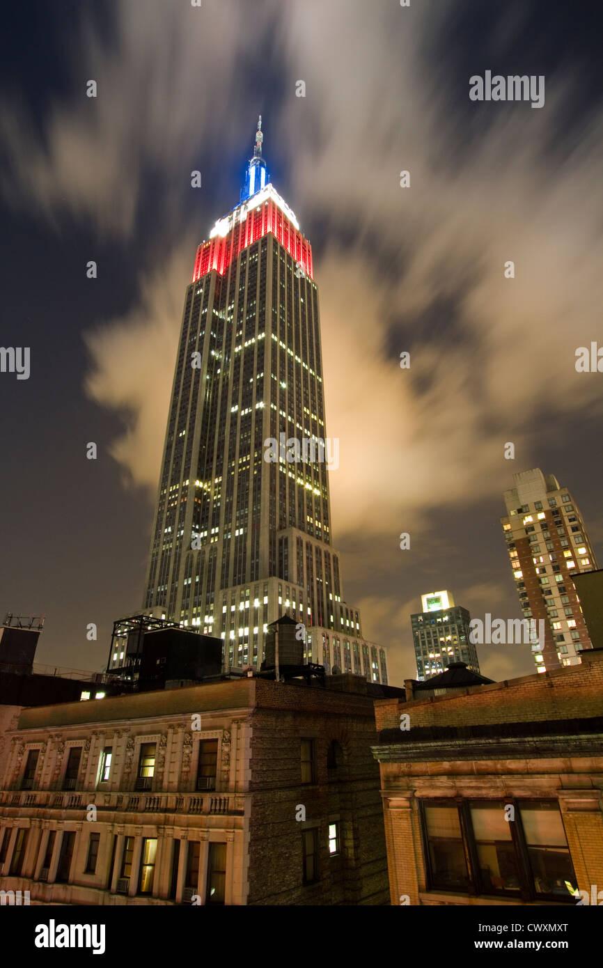 Edificio Empire State En La Noche Como Se Ve Desde El Hotel