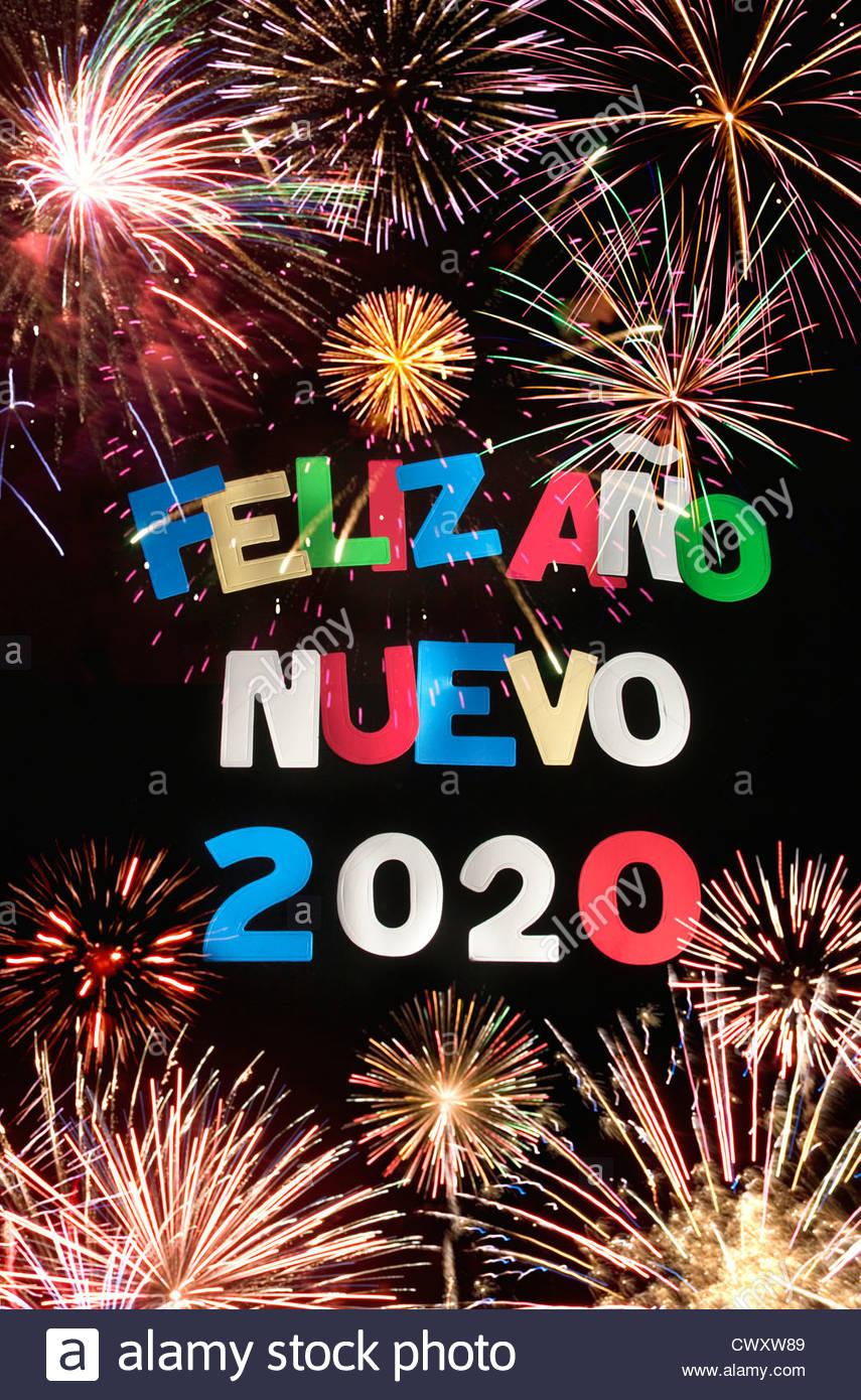 FELIZ ANO NUEVO 2020 Imagen De Stock