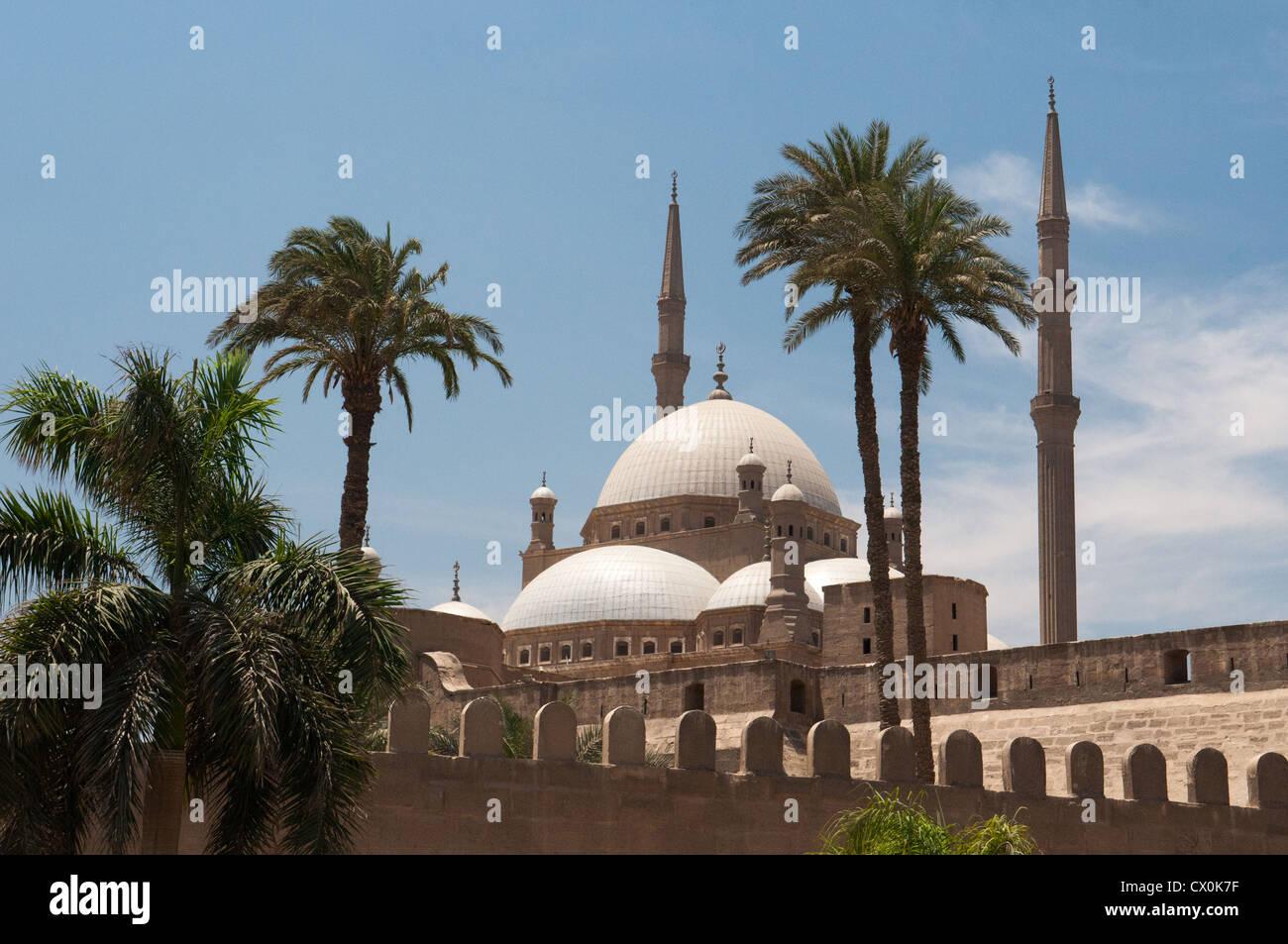 Muhammad Ali , La mezquita de La Ciudadela de El Cairo Egipto Imagen De Stock