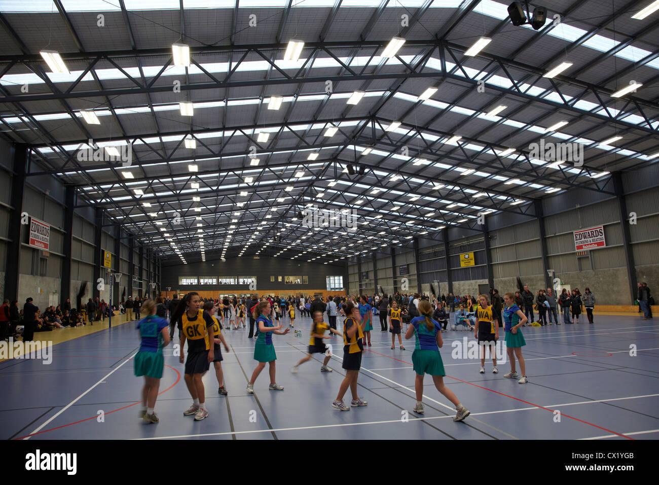 Torneo de baloncesto, balonvolea, Centro Sur de Otago Balclutha, South Otago, Isla del Sur, Nueva Zelanda Imagen De Stock