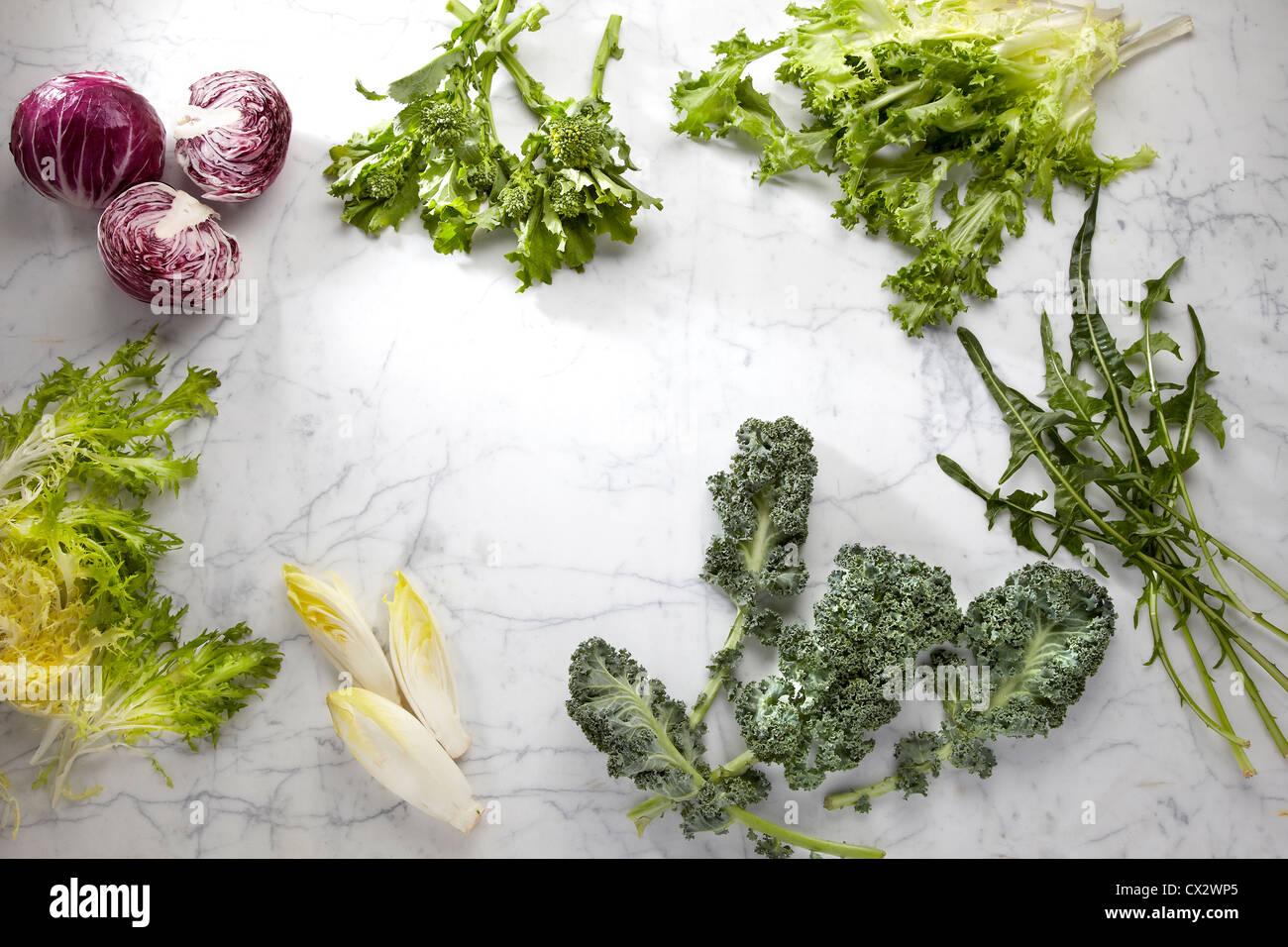 Verduras de hoja Foto de stock