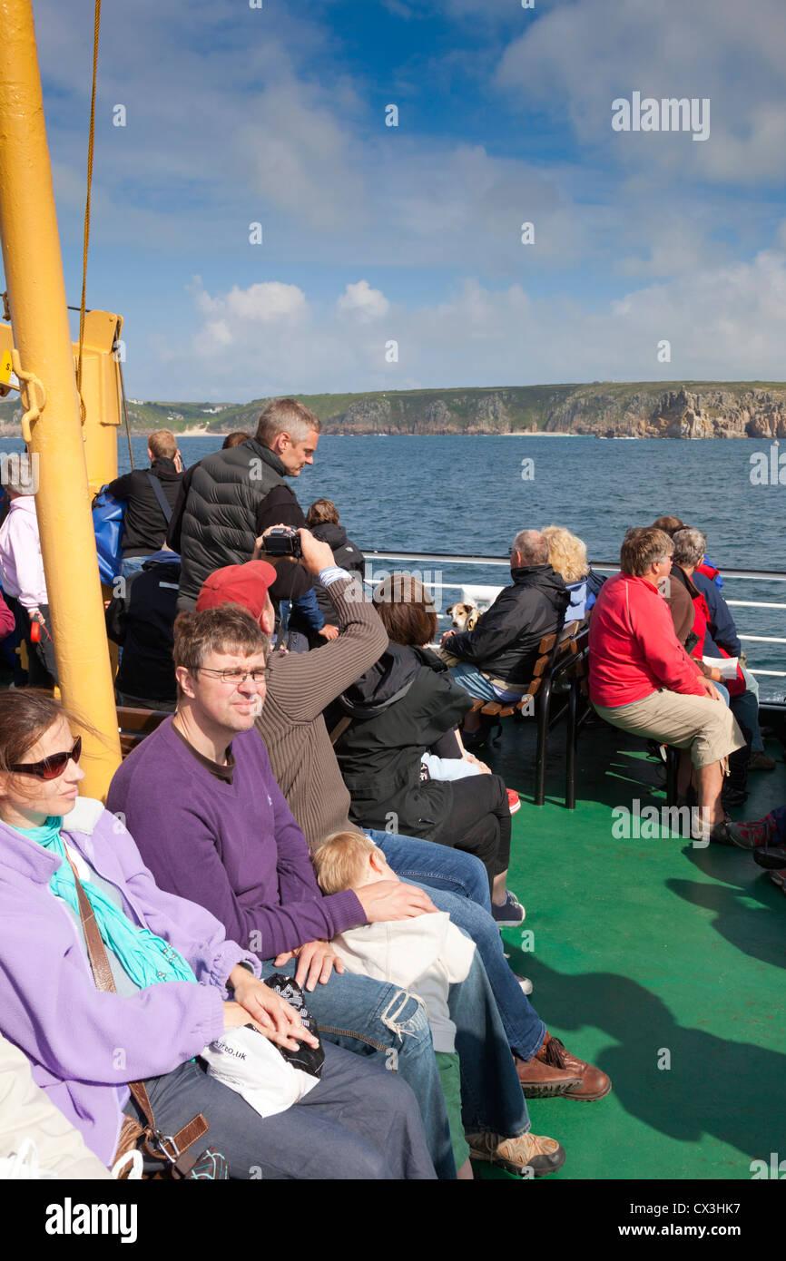 Viaje Scillonian; Cornwall; UK Imagen De Stock