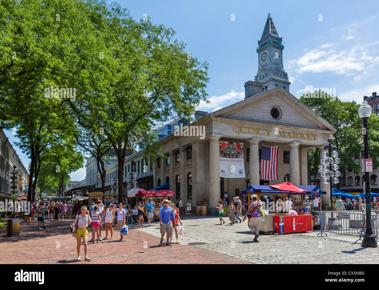Quincy Market, en el centro histórico de Boston, Massachusetts, EE.UU. Imagen De Stock