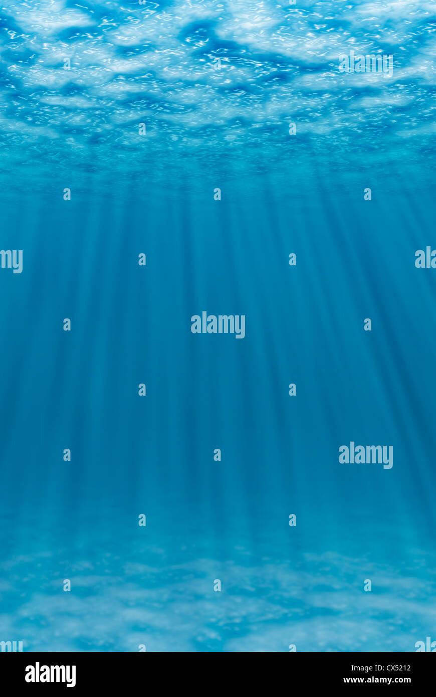 Escena subacuática CG Imagen De Stock