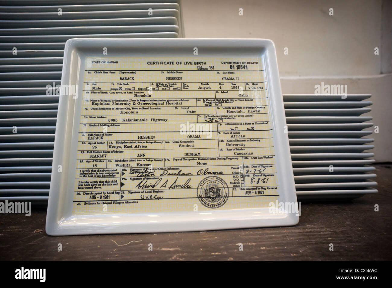 Lujoso Certificado De Nacimiento Barack Obama Molde - Cómo conseguir ...