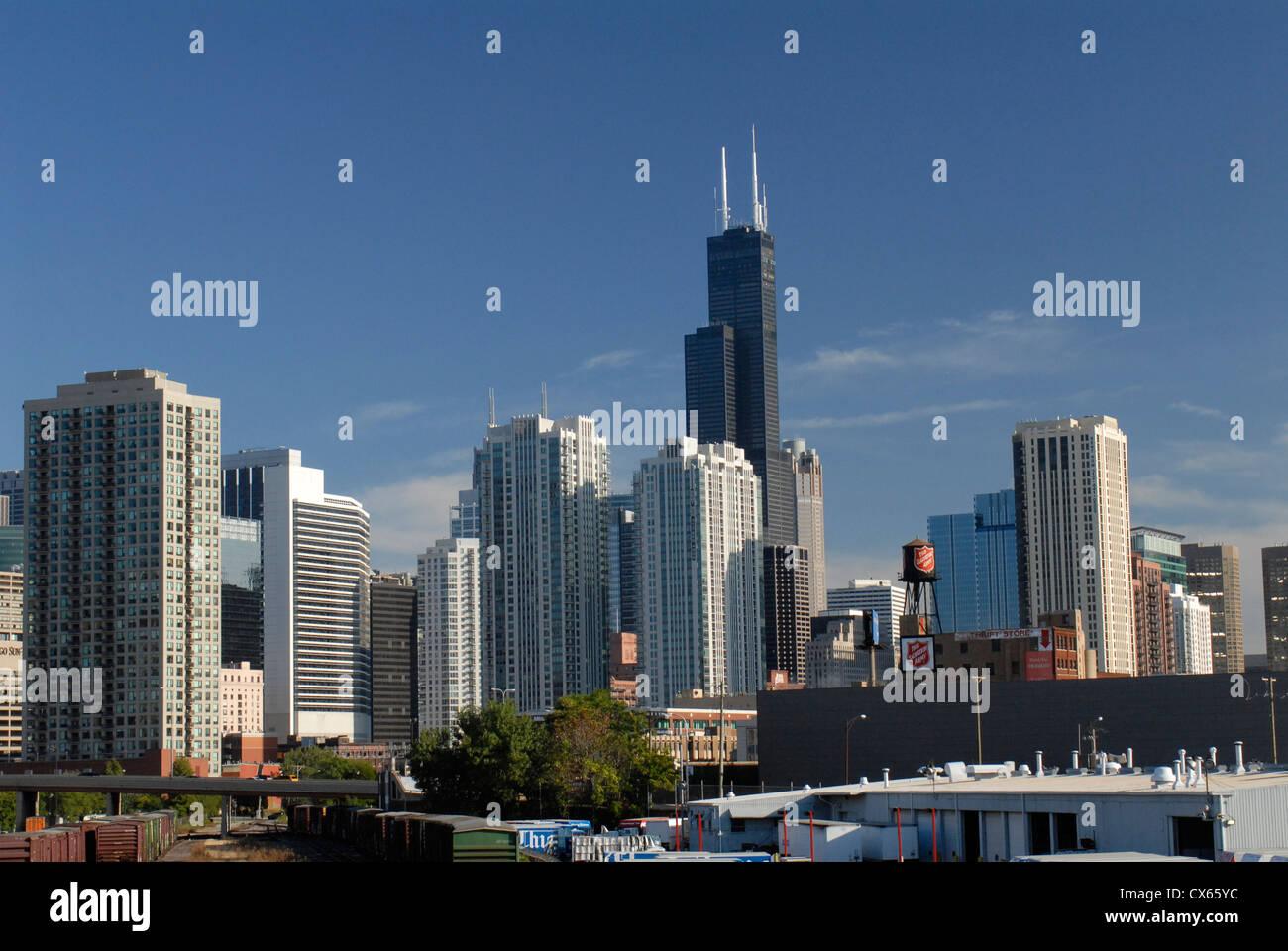 Chicago High Rises Imágenes De Stock & Chicago High Rises Fotos De ...