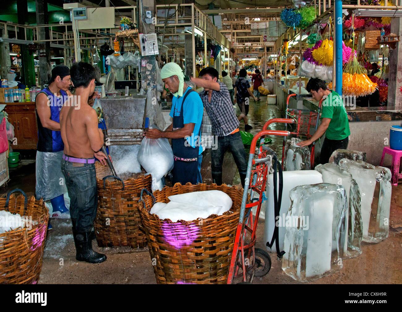 Bangkok, Tailandia Pak Khlong Talat Thai Flower Market Imagen De Stock