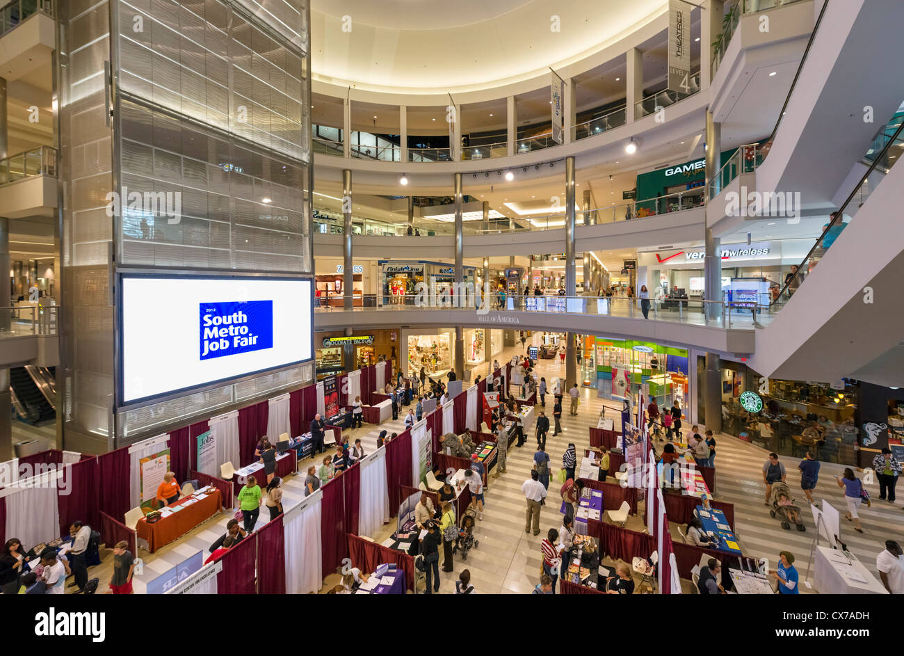 Feria de Empleo en el Mall of America, Bloomington, Minneapolis, Minnesota, EE.UU. Imagen De Stock