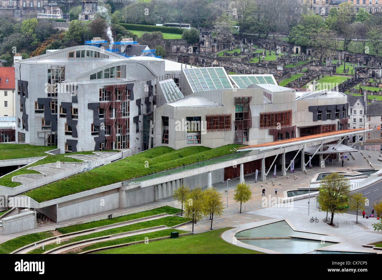 Edificio del Parlamento escocés, Holyrood, Edimburgo, Escocia, Reino Unido Imagen De Stock