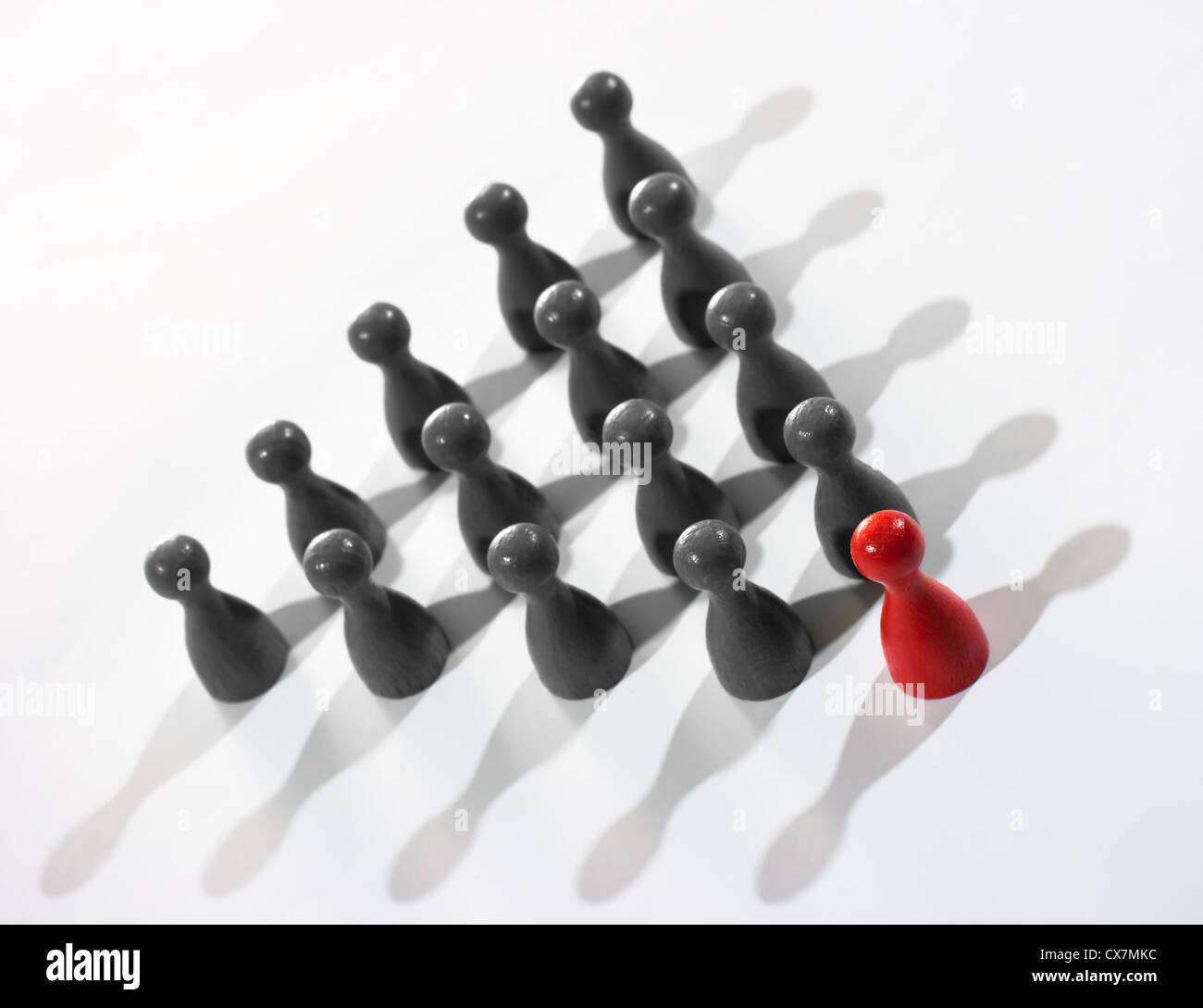 Concepto de liderazgo Imagen De Stock