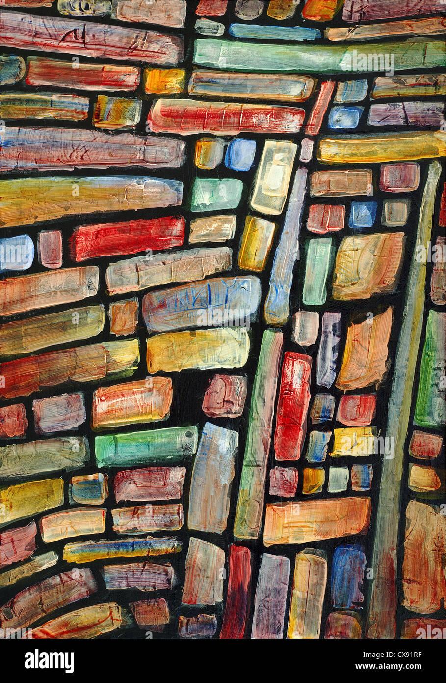 Una pintura abstracta Imagen De Stock