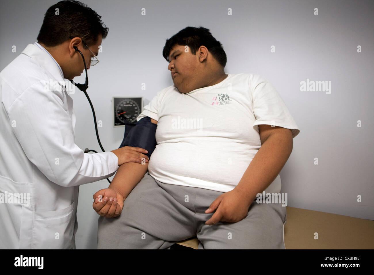 La obesidad mórbida infantil en México Imagen De Stock