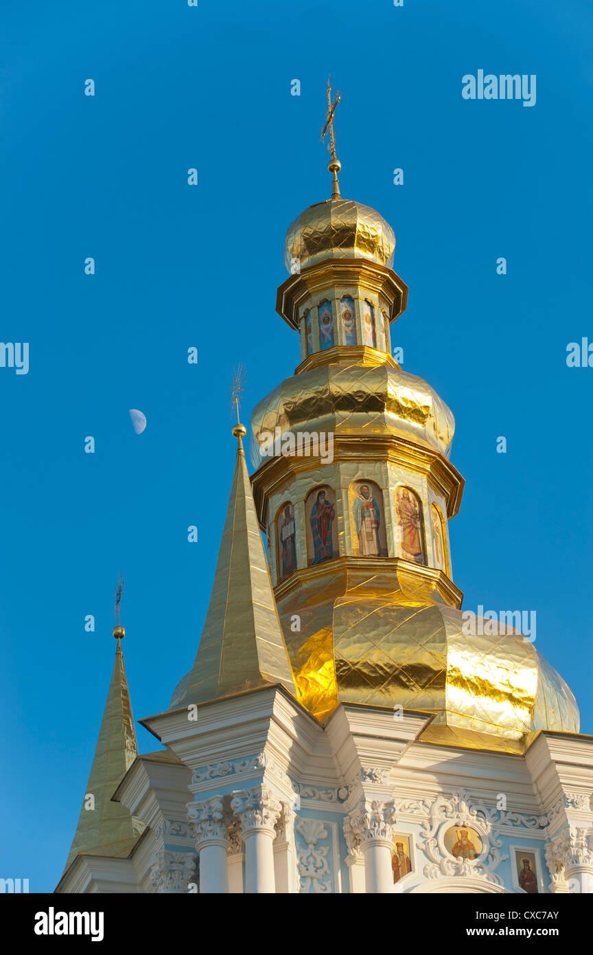 Kovnirs el Campanario, la Iglesia de la Natividad de la Virgen, de Pechersk Lavra, Sitio del Patrimonio Mundial Imagen De Stock