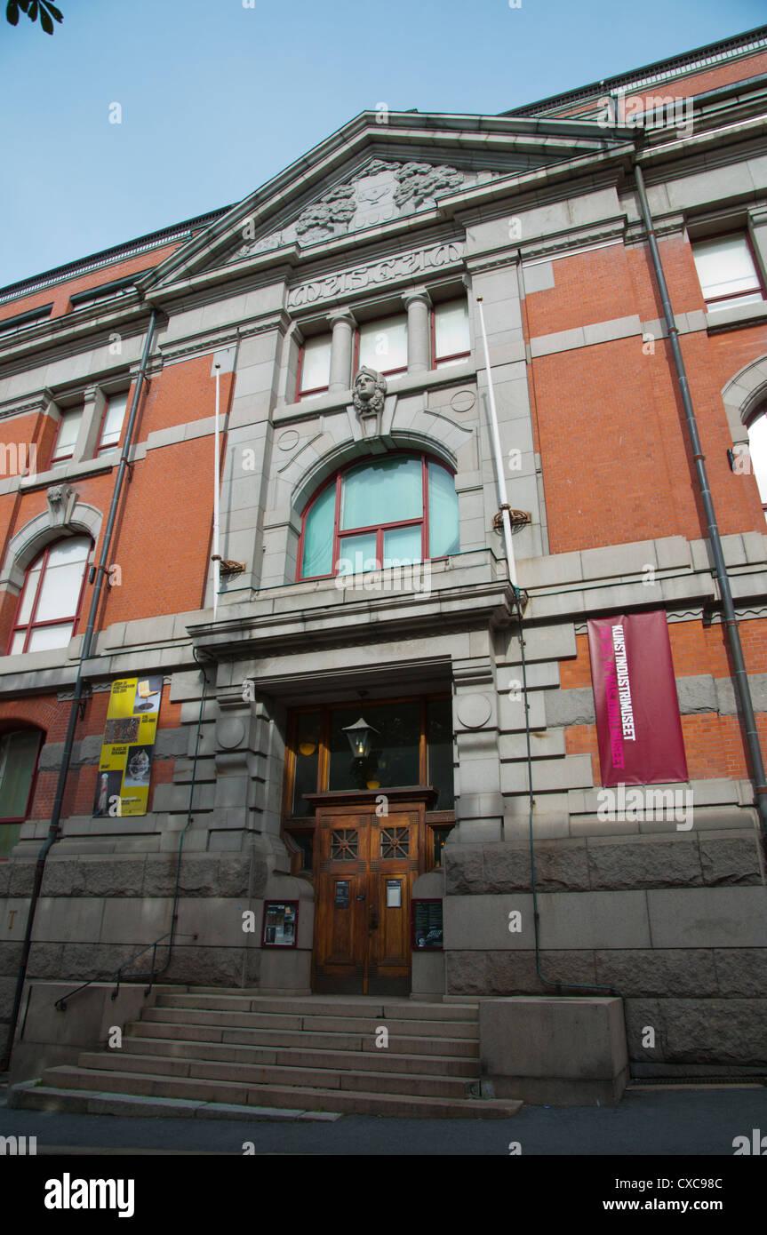 Kunstindustrimuseet el Museo Nacional de arte, arquitectura y diseño de Oslo Noruega central Centro Europa Imagen De Stock