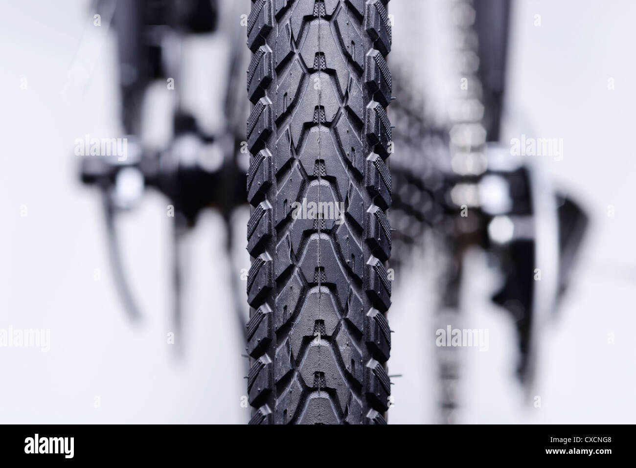 Resumen detalle de las marchas y los frenos de la rueda trasera de la bicicleta Imagen De Stock