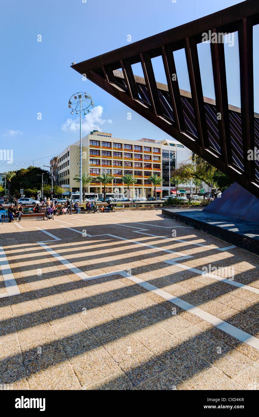 Plaza Rabin, Tel Aviv-Yafo, Tel Aviv, Israel, Oriente Medio Imagen De Stock