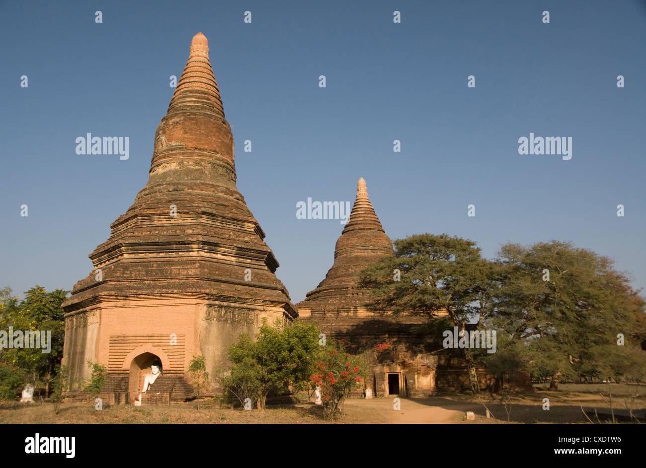 Pequeña paya, Bagan (pagano), Myanmar (Birmania), Asia Foto de stock
